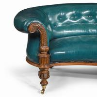 Victorian Carved Walnut Leathered Sofa (10 of 10)