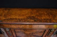 Victorian Antique Credenza Cabinet Bow End 1860 (4 of 8)