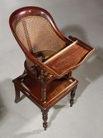 Early 19th Century Child's Metamorphic Hoop Backed Canework Chair (2 of 7)