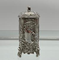 Antique Victorian Sterling Silver Tea Caddy London 1894 George Fox (5 of 12)