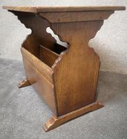 Solid Oak Magazine Rack / Side Table Titchmarsh Goodwin (7 of 8)
