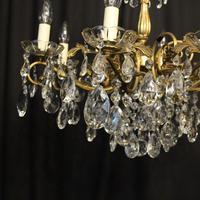 Italian Gilded Brass 8 Light Antique Chandelier (5 of 8)