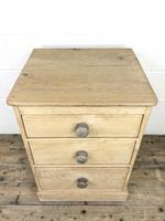Rustic Pine Three Drawer Pedestal Chest (2 of 9)