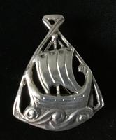 Silver Viking Ship Iona Brooch (3 of 3)