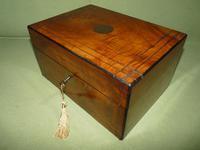 Inlaid Figured Walnut Jewellery – Work Box. Original Tray. C1870 (12 of 13)