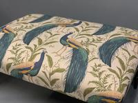 Regency Centre Footstool newly upholstered (3 of 4)