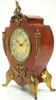 Antique French Mahogany & Ormolu Boulle Mantel Clock Shield Boulle Case. (6 of 7)