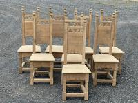 Set 8 Oak Farmhouse Dining Chairs (2 of 14)
