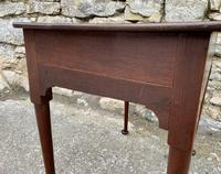 18th Century Georgian Oak Pad Foot Side Table (6 of 17)
