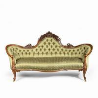 Elaborate Victorian Shaped Walnut Sofa (2 of 12)