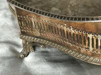 Antique Victorian Serpentine English Silver Plate Acanthus Salver Tray (9 of 13)