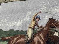 Sporting Wall Tapestry Scottish Horse Trainers Racing Glenrothes Scotland Signed (13 of 27)