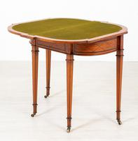 Satinwood Card Table in the Hepplewhite Style (4 of 8)