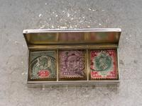 Early 20th Century Silver Triple Compartment Stamp Case by Cohen & Charles, London, 1913 (6 of 10)