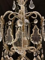 One Light Small Antique Italian Beaded Chandelier (4 of 11)