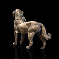 Antique Retriever Statue, English, Brass, Decorative, Dog Ornament, Victorian (6 of 12)