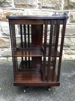 Edwardian Mahogany Revolving Bookcase (3 of 9)