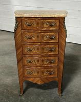 Quality French Marquetry Taller Chest of Drawers (7 of 15)
