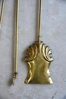 Quality Antique Brass Fire Shovel & Tongs (2 of 9)