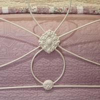 Cream Victorian Cast Iron Bedstead with Hoop Over Design (4 of 10)