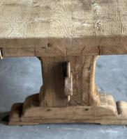 Superb Rustic Large Bleached Oak Farmhouse Table with Extensions (22 of 36)