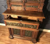 Victorian Carved Oak Secretaire Bookcase (24 of 25)
