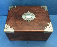 Victorian Brassbound Walnut Cigar Box (16 of 19)