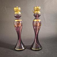 Pair of Purple Victorian Lamps (4 of 5)