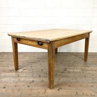 Victorian Pine Scrub Top Farmhouse Table