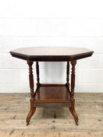 Late Victorian Walnut Octagonal Centre Table (2 of 10)