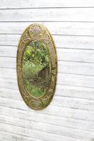 Arts & Crafts Movement Scottish / Glasgow School Large Oval Wall Mirror c.1900 (10 of 28)