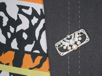 3.51ct Diamond & Pearl, Platinum Brooch - Art Deco c.1930 (9 of 9)