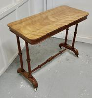 Elegant Victorian Arts & Crafts Birch and Mahogany Side Table (2 of 8)
