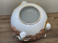 Beautiful Hollywood Regency Style Oversized Porcelain & Terracotta Cherub Floor Vase (20 of 52)