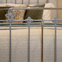 Antique Bed with Nickel Plating (5 of 9)