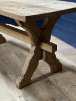 Rustic French Bleached Oak Coffee Table (10 of 20)