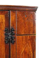 Georgian Oak Bow Front Corner Cupboard (13 of 13)