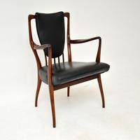 Rosewood & Leather Dining Table & Chairs by AJ Milne for Heals (3 of 22)
