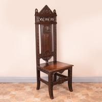 Carved Oak High Backed Side Chair (2 of 9)