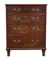 Small Mahogany Chest of Drawers 19th Century (6 of 7)
