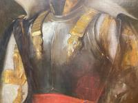 Military Officer In Armour Oil Portrait Painting On Canvas (5 of 10)