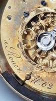 Rare 18th Century French 18k Gold Turquoise & Ruby Pocket Watch (10 of 10)