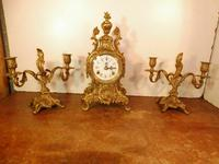 Lancini Franz Hermle clock with candelabras garnitures exactly like Imperial range