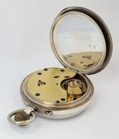Antique 1895 English Silver Pocket Watch (4 of 5)