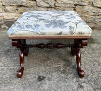 Victorian Mahogany X-Frame Stool (14 of 15)
