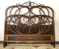 Antique Bentwood Large Double Bed By Jacob & Josef Kohn c.1900 (5 of 12)