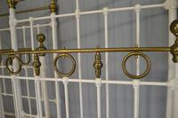 Matching Pair of Victorian Beds, 3ft Single Brass & Iron Bedsteads (7 of 12)