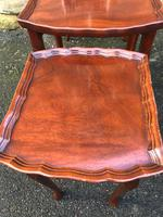 Antique Mahogany Nest of 3 Tables (6 of 8)