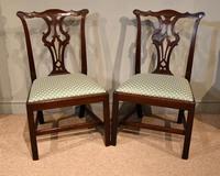 George III Mahogany Pair of Side Chairs