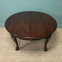 Edwardian Walnut Wind Out Extending Antique Dining Table (10 of 10)